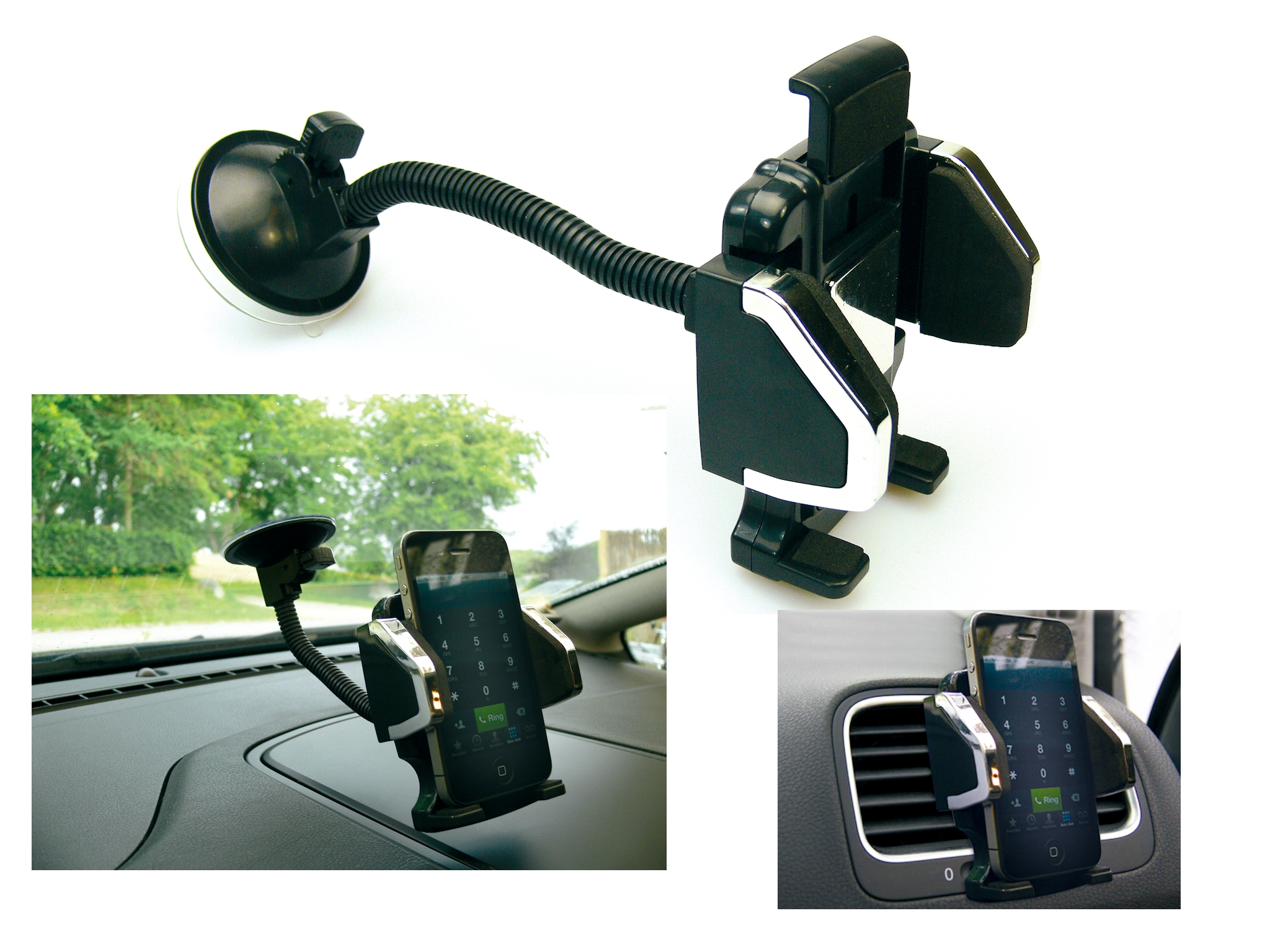 Universal in car mobile holder