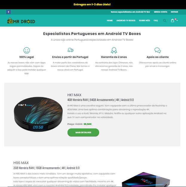 Mr Droid – Loja online de Android TV Boxes